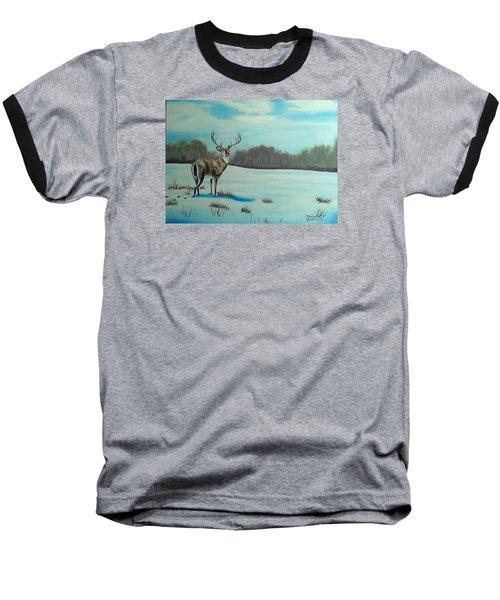 Whitetail Buck Baseball T-Shirt