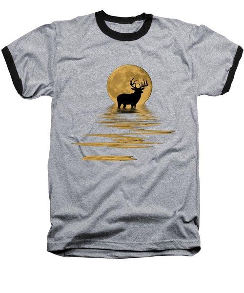 Whitetail Deer In The Moonlight Baseball T-Shirt