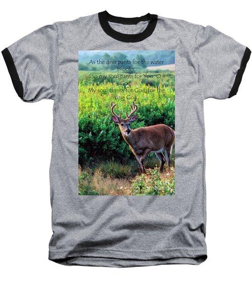 Whitetail Deer Panting Baseball T-Shirt