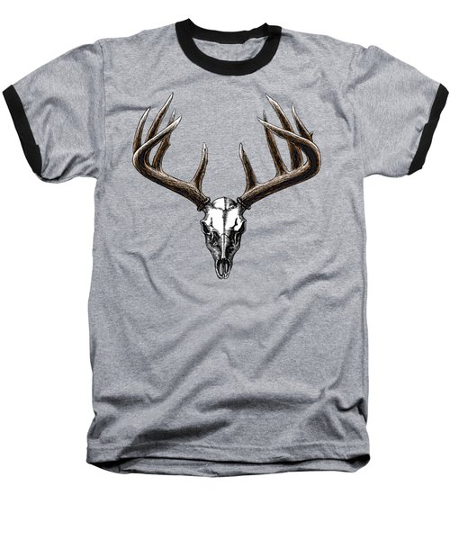Whitetail Skull Baseball T-Shirt