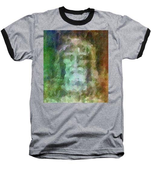 Who Do Men Say That I Am - The Shroud Baseball T-Shirt
