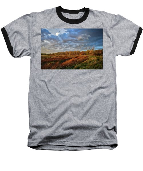 Who Has Seen The Wind? Baseball T-Shirt by Keith Boone