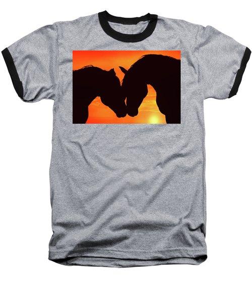 Wholeheartedly Baseball T-Shirt by Iryna Goodall