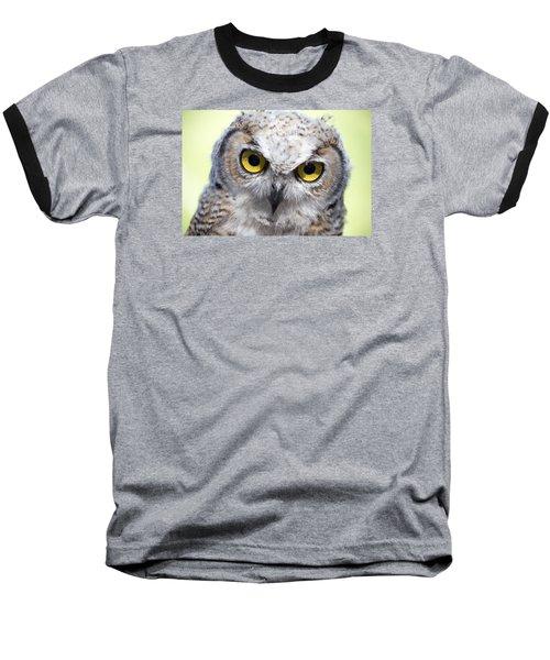 Whooo Baseball T-Shirt by Tom Buchanan
