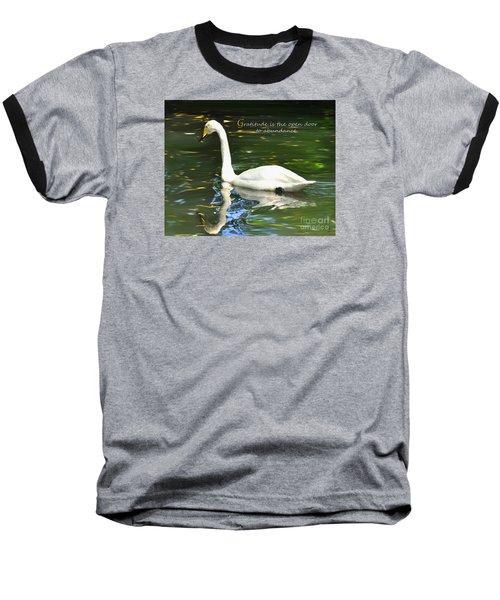 Whooper Swan Gratitude Baseball T-Shirt
