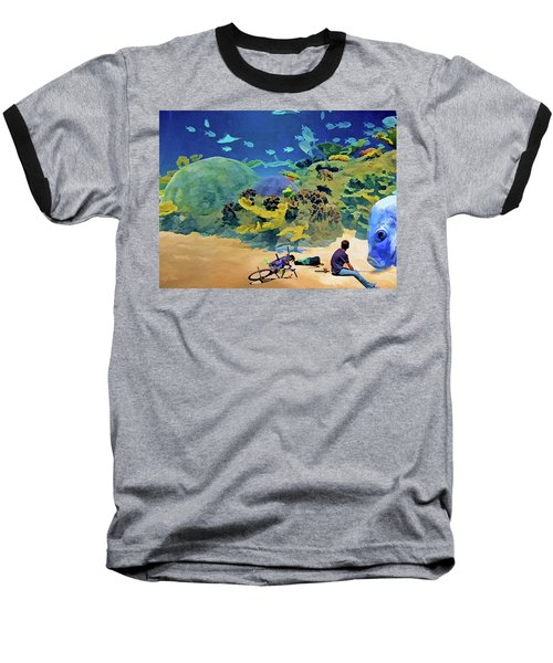 Who's Fishing? Baseball T-Shirt
