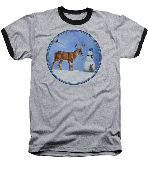 Whose Carrot Seasons Greeting Baseball T-Shirt by Crista Forest