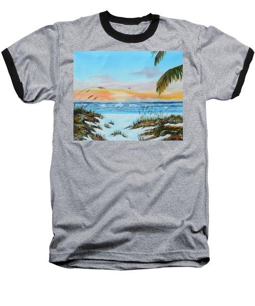 Why Not Siesta Key Baseball T-Shirt by Lloyd Dobson