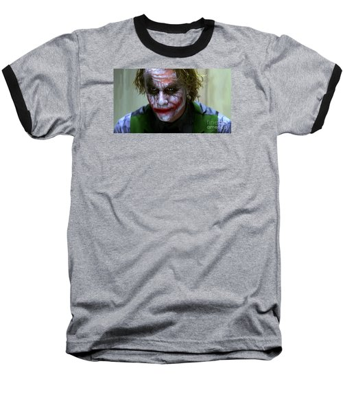 Why So Serious Baseball T-Shirt by Paul Tagliamonte