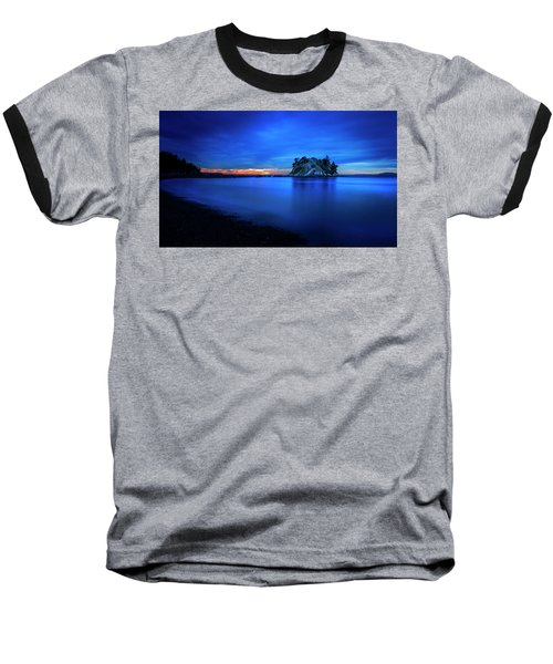 Baseball T-Shirt featuring the photograph Whytecliff Sunset by John Poon