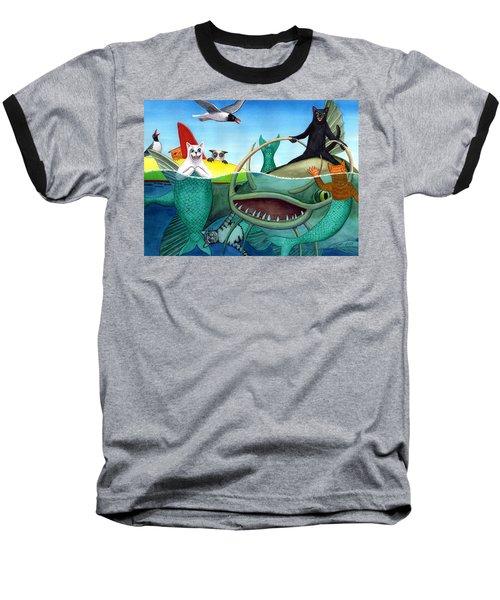 Wicked Kitty's Catfish Baseball T-Shirt