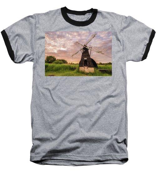 Wicken Wind-pump At Sunset II Baseball T-Shirt