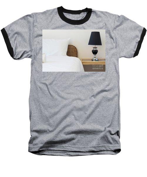 Baseball T-Shirt featuring the photograph Wicker Rattan Bed by Atiketta Sangasaeng