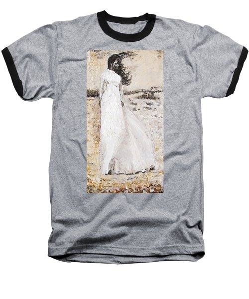 Baseball T-Shirt featuring the painting Out On The Wiley Windy Moors by Jarko Aka Lui Grande