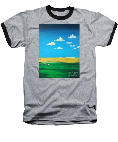 Wide Open Spaces And A Big Blue Sky Baseball T-Shirt