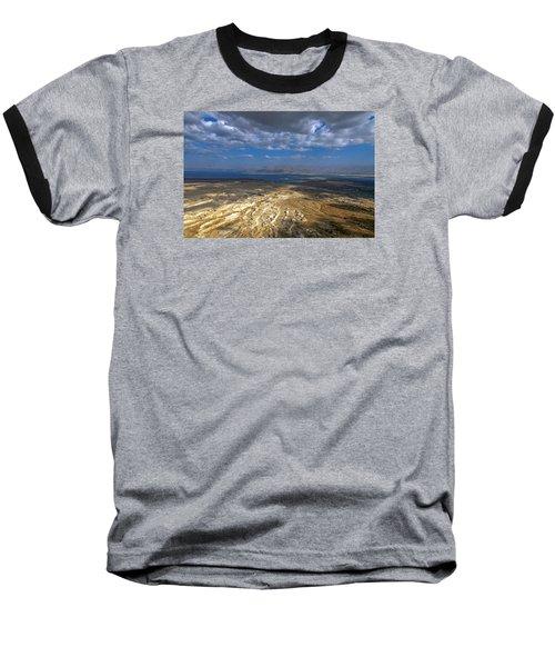Wide View From Masada Baseball T-Shirt by Dubi Roman