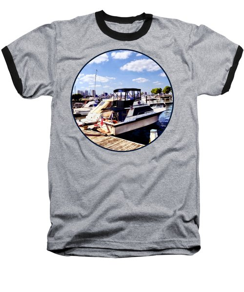 Wiggins Park Marina Baseball T-Shirt