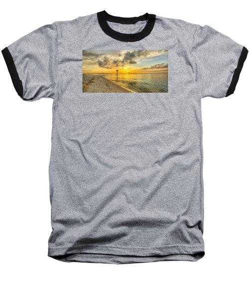 Wiggins Pass State Park Baseball T-Shirt by Sean Allen