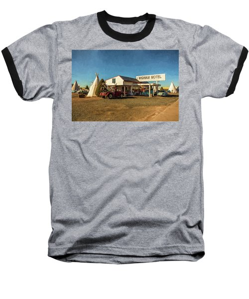 Wigwam Motel Baseball T-Shirt