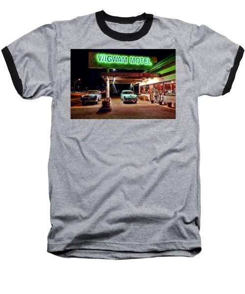 Wigwam Motel Baseball T-Shirt