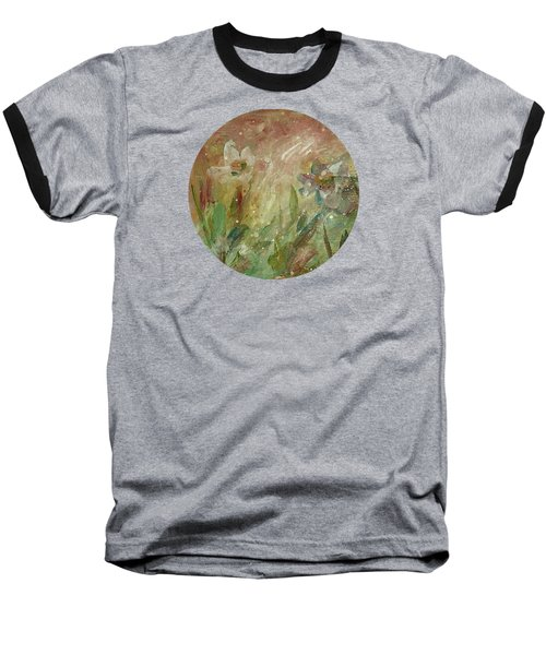 Baseball T-Shirt featuring the painting Wil O' The Wisp by Mary Wolf
