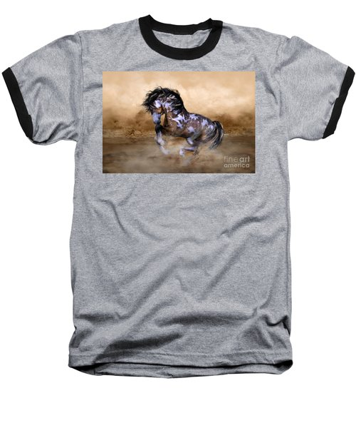 Baseball T-Shirt featuring the digital art Wild And Free Horse Art by Shanina Conway