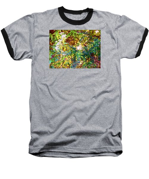 Baseball T-Shirt featuring the photograph wild and Weedy by Shirley Moravec