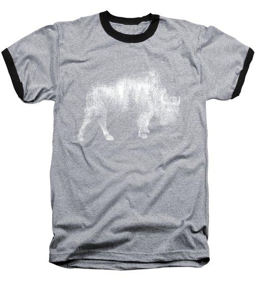 Wild Bison Baseball T-Shirt by Diana Van