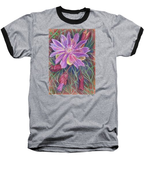 Baseball T-Shirt featuring the drawing Wild Bitterroot Flower by Dawn Senior-Trask