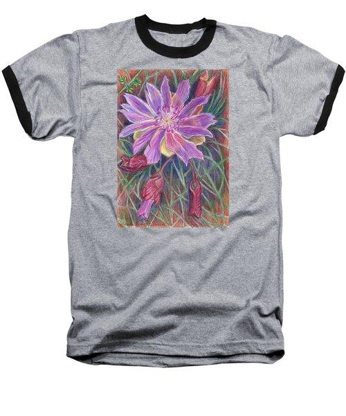 Wild Bitterroot Flower Baseball T-Shirt