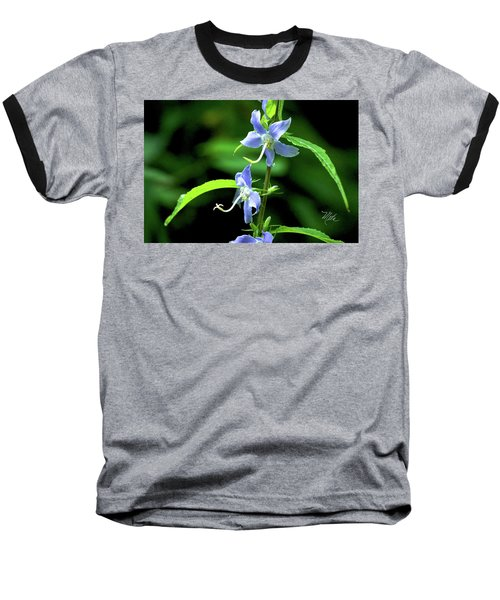 Wild Blue Flowers Baseball T-Shirt