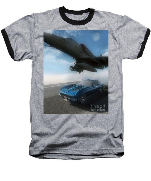 Wild Blue Baseball T-Shirt