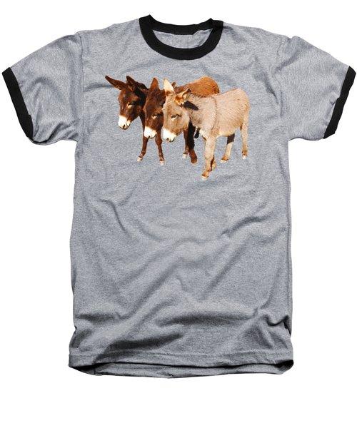 Wild Burro Buddies Baseball T-Shirt by Sandra O'Toole