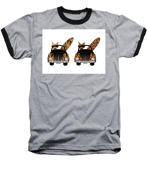 Wild Cats Go Surfing Baseball T-Shirt