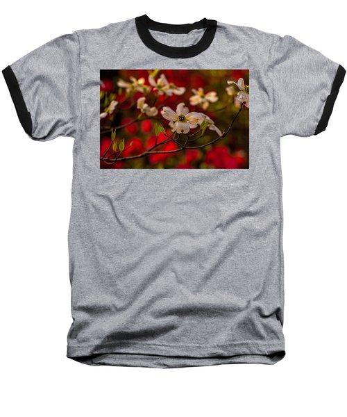 Wild Dogwood And Red Azaleas Baseball T-Shirt