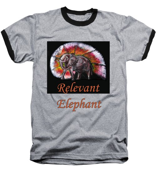 Wild Elephant Baseball T-Shirt by Tom Conway