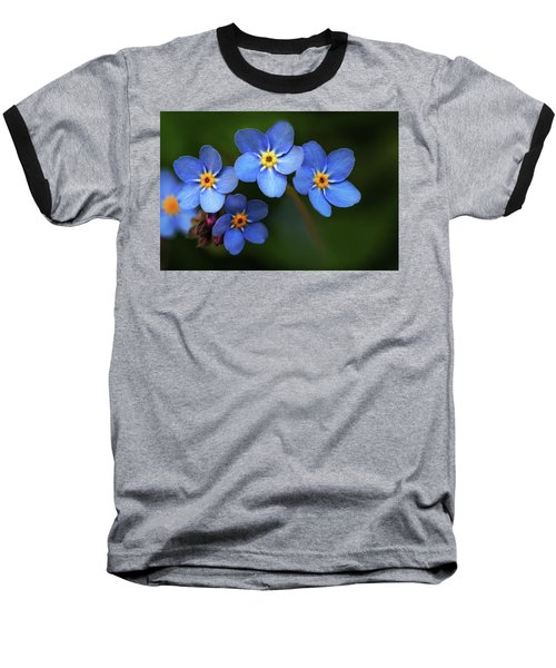 Wild Flower Forget-me-not Since The Middle Ages Symbolizes The Celestial Eye And Reminds You Of God Baseball T-Shirt
