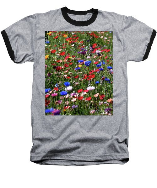 Wild Flower Meadow 2 Baseball T-Shirt
