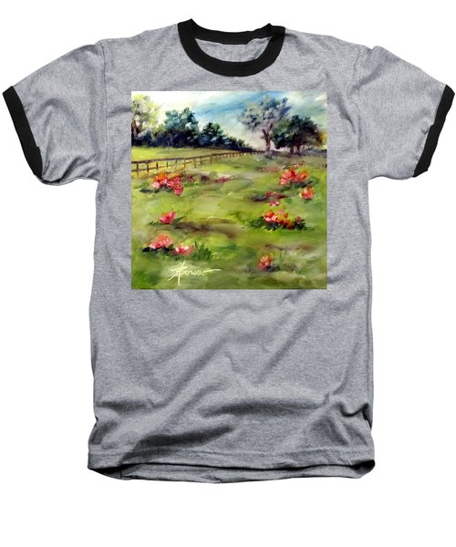 Texas Wild Flower Road Trip  Baseball T-Shirt