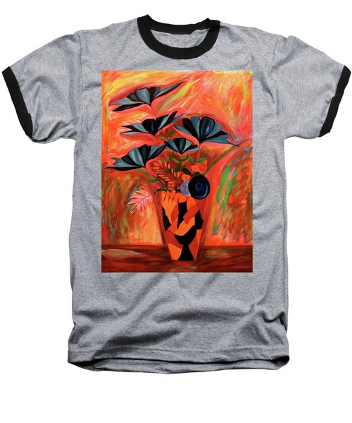 Baseball T-Shirt featuring the painting Wild Flowers  A Still Life  by Iconic Images Art Gallery David Pucciarelli