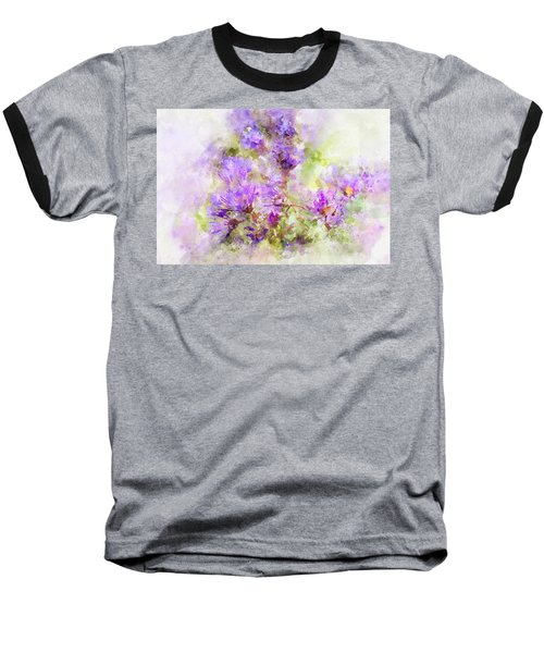 Wild Flowers In The Fall Watercolor Baseball T-Shirt
