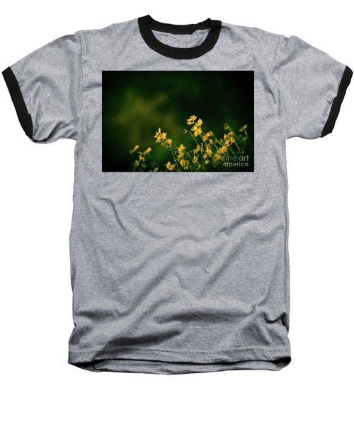 Baseball T-Shirt featuring the photograph Evening Wild Flowers by Kelly Wade
