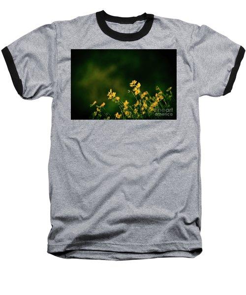 Evening Wild Flowers Baseball T-Shirt