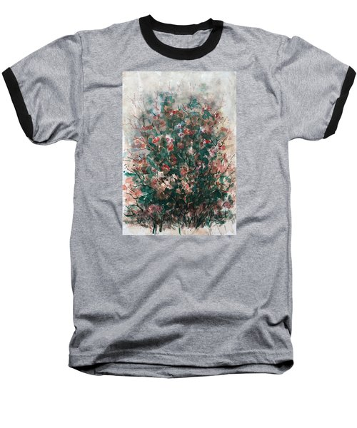Baseball T-Shirt featuring the painting Wild Flowers by Laila Awad Jamaleldin