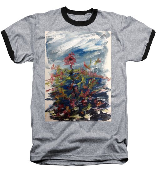 Wild Flowers On An Overcast  Day Baseball T-Shirt