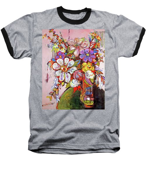 Wild Flowers Baseball T-Shirt by Sharon Furner