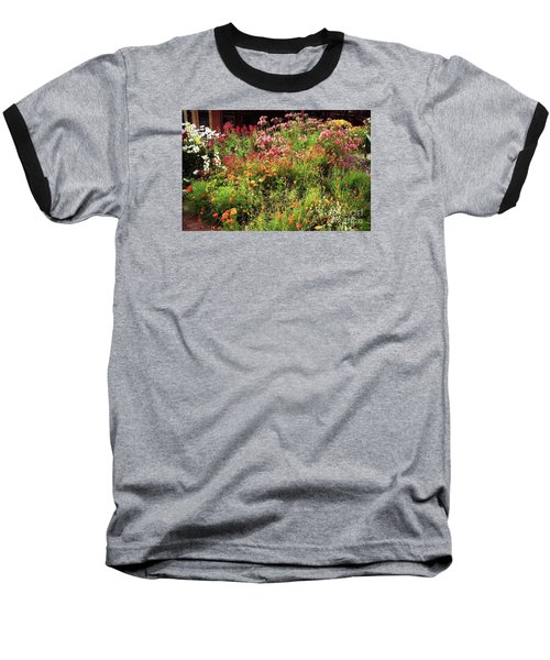 Wild Flowers Baseball T-Shirt by Ted Pollard