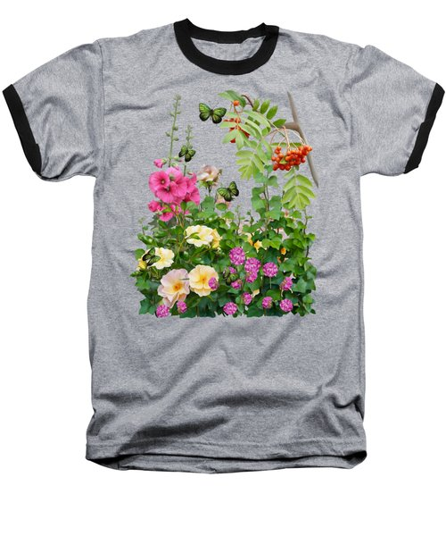 Baseball T-Shirt featuring the painting Wild Garden by Ivana Westin