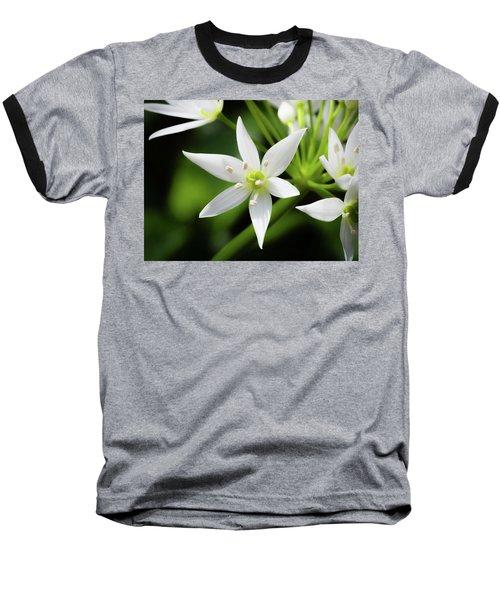 Wild Garlic Flower Baseball T-Shirt