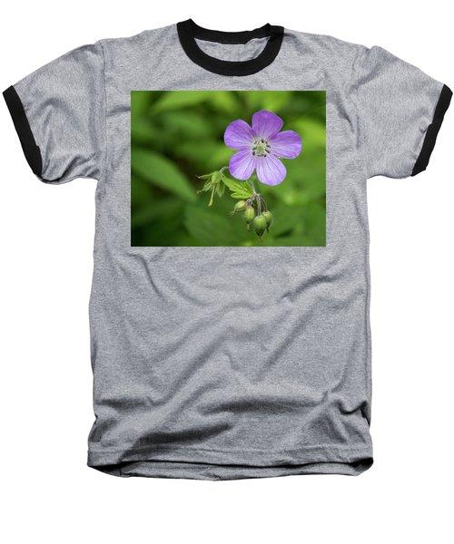 Wild Geranium Baseball T-Shirt